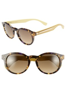 Fendi 50mm Round Sunglasses