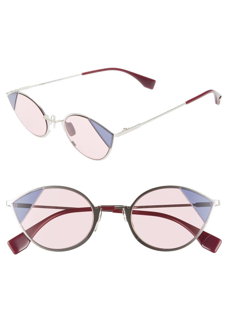 Fendi 51mm Aviator Sunglasses