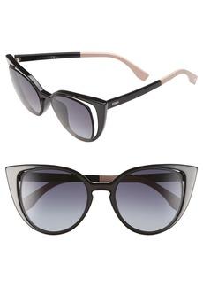 Fendi 51mm Cat Eye Sunglasses