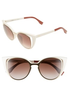 Fendi 51mm Cat Eye Sunglasses
