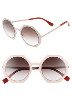 Fendi 51mm Retro Octagon Sunglasses