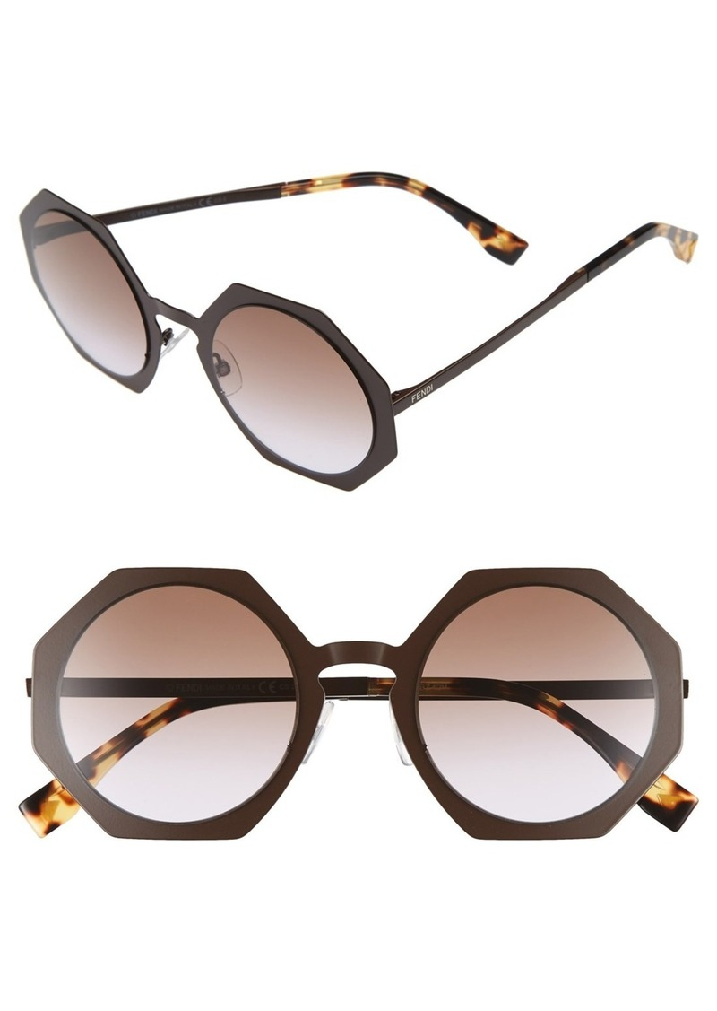 39a66aa3106e Fendi Fendi 51mm Retro Octagon Sunglasses