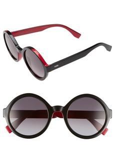 Fendi 51mm Round Sunglasses