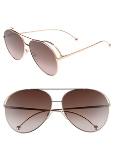 Fendi 52mm Aviator Sunglasses