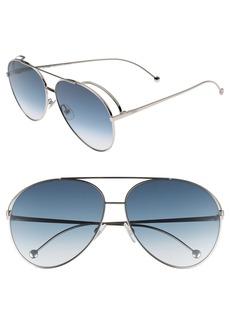 Fendi 52mm Aviator Sunglasses