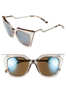 Fendi 52mm Cat Eye Sunglasses