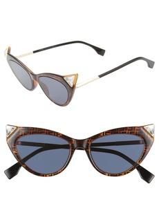 Fendi 52mm Flat Front Cat Eye Sunglasses
