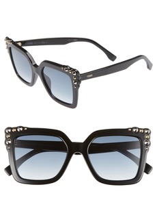Fendi 52mm Gradient Cat Eye Sunglasses