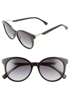 Fendi 52mm Gradient Lens Sunglasses