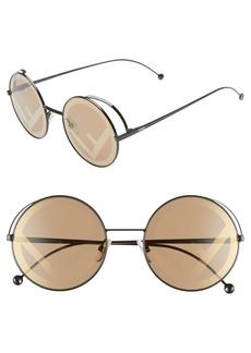 Fendi 53mm Lenticular Round Sunglasses