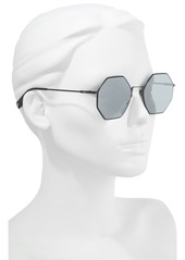 Fendi 53mm Octagonal Polarized Metal Sunglasses