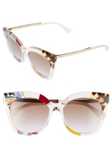 Fendi 53mm Retro Sunglasses