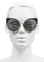 Fendi 53mm Round Cat Eye Sunglasses