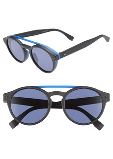 Fendi 53mm Special Fit Round Sunglasses