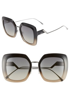 Fendi 53mm Square Gradient Sunglasses