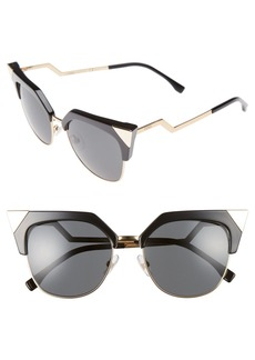 Fendi 54mm Metal Tipped Cat Eye Sunglasses