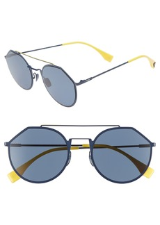 Fendi 54mm Polarized Round Sunglasses