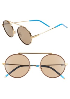 Fendi 54mm Round Sunglasses