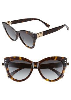 Fendi 54mm Special Fit Gradient Cat Eye Sunglasses