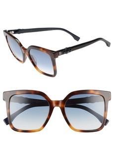 Fendi 54mm Square Sunglasses