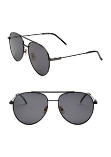 Fendi 55MM Aviator Sunglasses