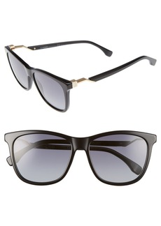 Fendi 55mm Cube Retro Sunglasses