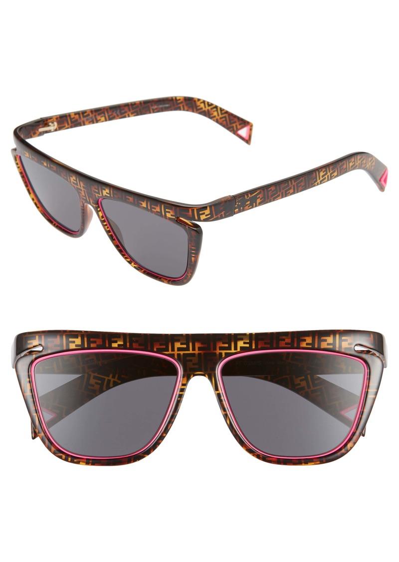 Fendi 55mm Flat Top Sunglasses