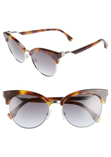 Fendi 55mm Gradient Lens Cat Eye Sunglasses