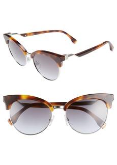 Fendi 55mm Gradient Lens Cat Eye Sunglasses