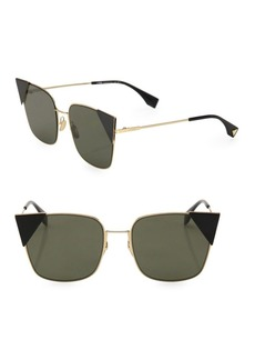 Fendi 55MM Squared Cat Eye Sunglasses