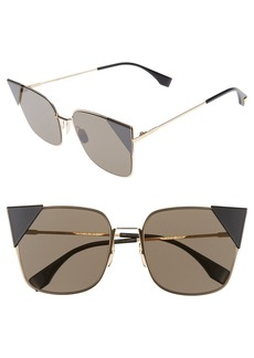 Fendi 55mm Tipped Cat Eye Sunglasses