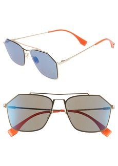 Fendi 56mm Navigator Sunglasses