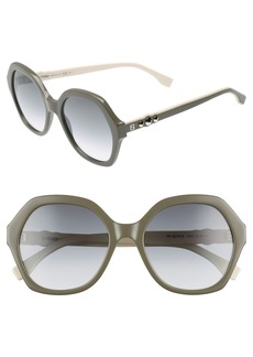 Fendi 56mm Oversize Sunglasses
