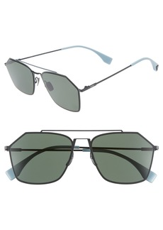 Fendi 56mm Polarized Navigator Sunglasses