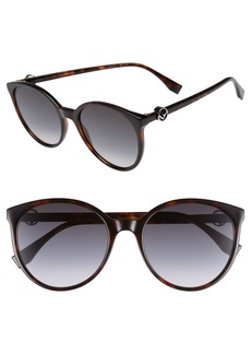Fendi 56mm Retro Sunglasses