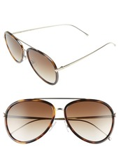 Fendi 57mm Aviator Sunglasses