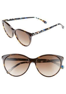 Fendi 57mm Cat Eye Sunglasses