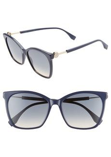 Fendi 57mm Gradient Square Sunglasses