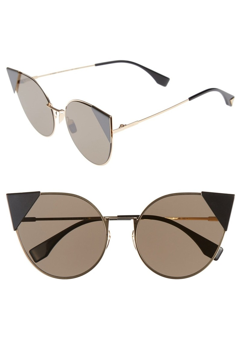 f3f2abc44e171 Fendi Fendi 57mm Lei Cat Eye Sunglasses