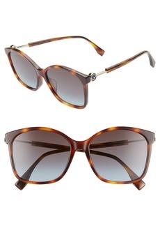 Fendi 57mm Special Fit Sunglasses