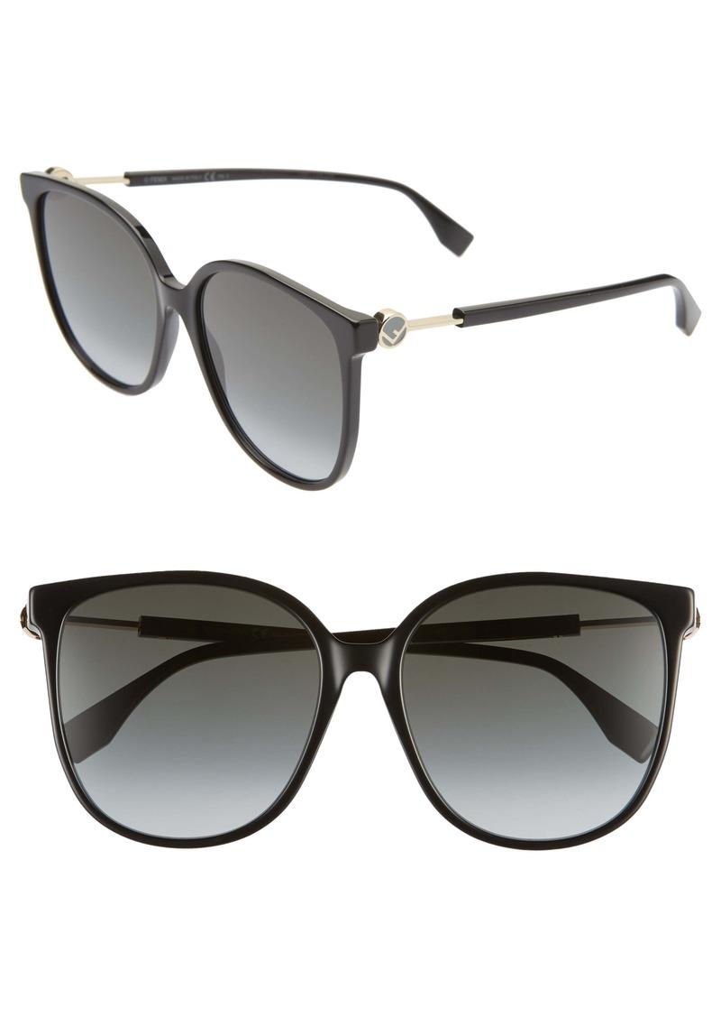 Fendi 58mm Cat Eye Sunglasses