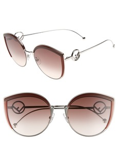 Fendi 58mm Metal Butterfly Sunglasses