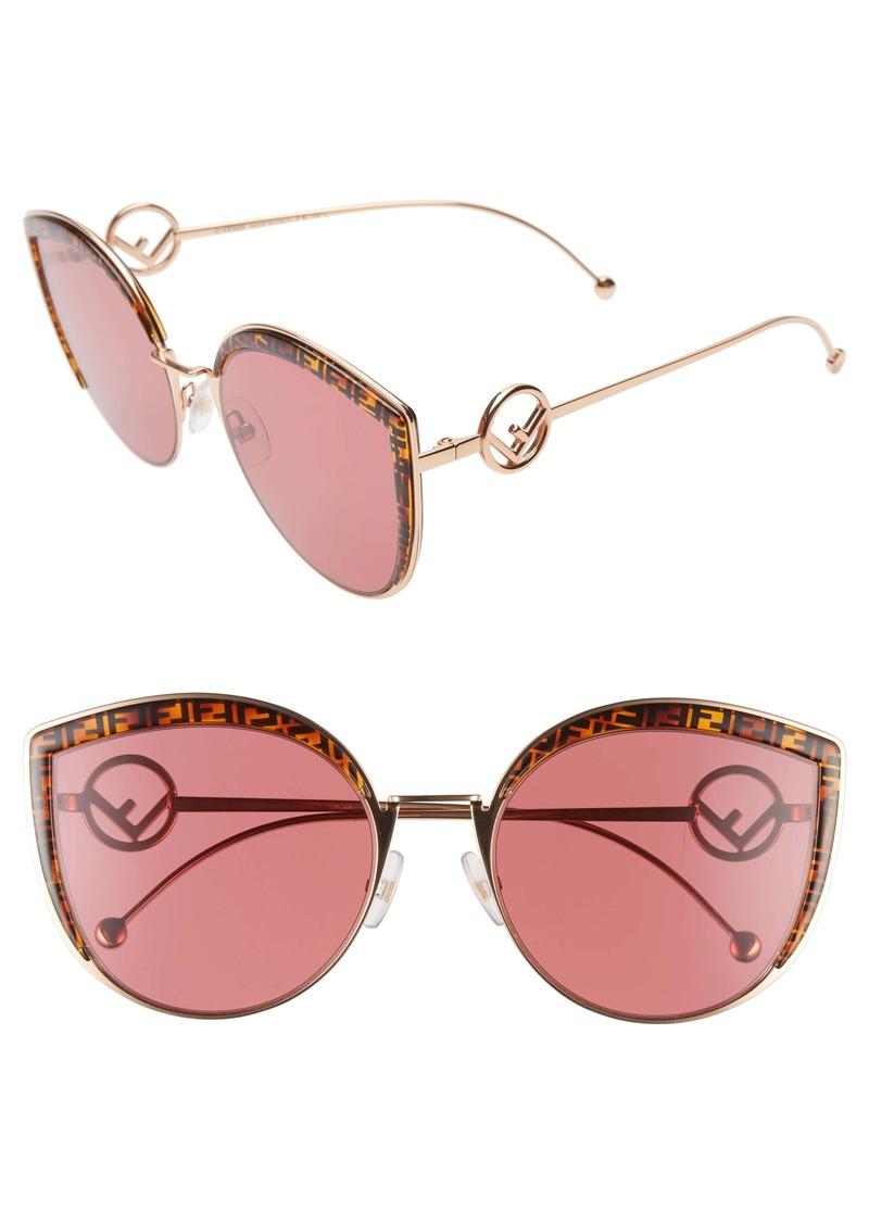 Fendi 58mm Metal Butterfly Sunglasses