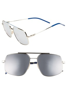 Fendi 58mm Polarized Metal Navigator Sunglasses