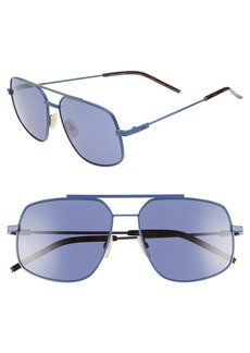Fendi 58mm Polarized Navigator Sunglasses