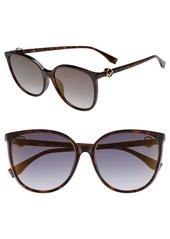 Fendi 58mm Retro Special Fit Sunglasses