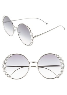 Fendi 58mm Round Sunglasses