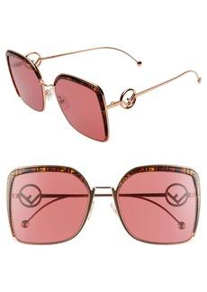 Fendi 58mm Square Sunglasses