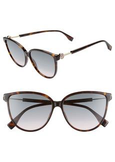 Fendi 59mm Cat Eye Sunglasses