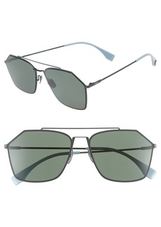 Fendi 59mm Polarized Navigator Sunglasses